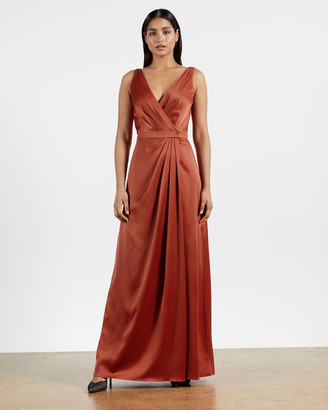 Ted Baker FLORRAA Sleeveless wrap gown