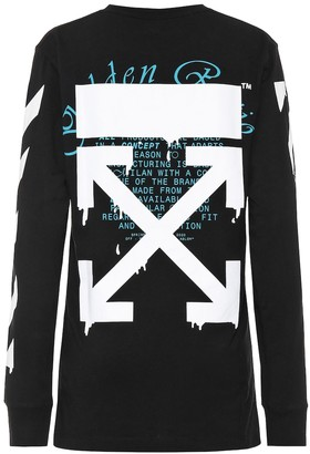Off-White Printed cotton-jersey shirt