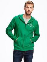 Old Navy Full-Zip Logo Fleece Hoodie for Men