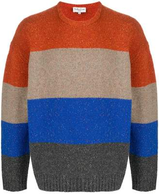 YMC knitted striped jumper