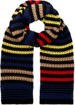 Sonia Rykiel Multi Knitted Chevron Stripe Scarf