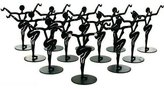 FindingKing 12 Metal Earring Dancer Jewelry Showcase Display Stands 3.25""