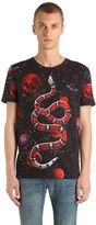 Gucci Space Snake Print Cotton Jersey T-Shirt