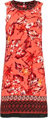 Wallis Coral Floral Print Shift Dress