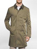 Calvin Klein Mens X Fit Ultra Slim Fit Lightweight Olive Raincoat Jacket Olive