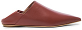 Marni Leather Sabot Mules in Brown.
