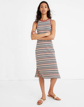 Madewell Striped Tank Midi Dress