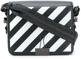 Off-White Diagonal Binder Clip crossbody bag