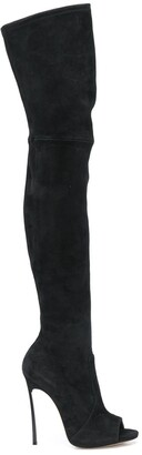 Casadei Maxi Blade thigh-high boots