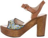 Derek Lam 10 Crosby Canvas Ankle Strap Sandals