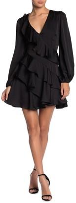 Do & Be Satin Ruffled Dress