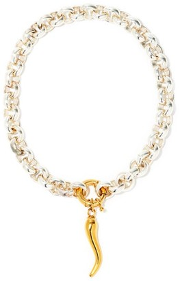 Timeless Pearly Chilli Silver-plated & 24kt Gold-plated Choker - Silver Gold