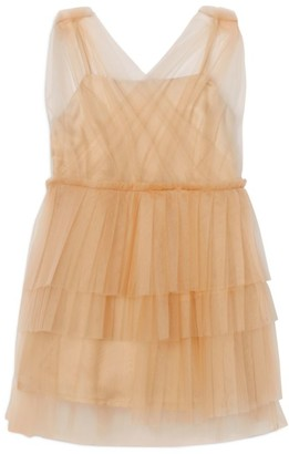 Burberry Kids Tulle Tiered Dress