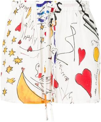 Esteban Cortazar Miami Mi Amor drawstring shorts