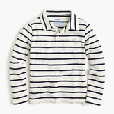 J.Crew Boys' long-sleeve polo shirt in ivory stripe