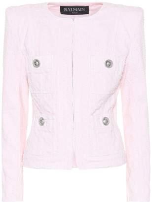 Balmain Boucle cotton jacket