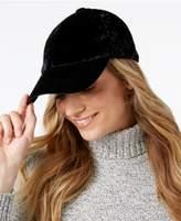 INC International Concepts Crushed Velvet Baseball Cap, Created for Macy's