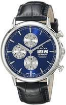 Edox Men's 01120 3 BUIN Les Bemonts Analog Display Swiss Automatic Black Watch