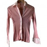 Celine Pink Cotton Top for Women Vintage