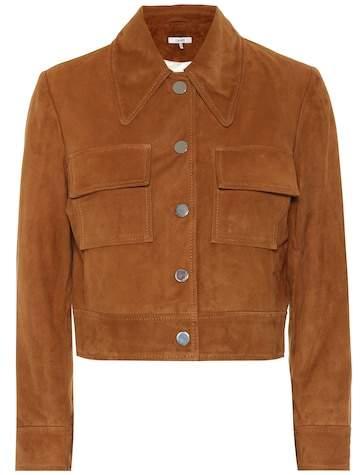 Ganni Salvia suede jacket