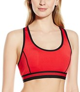 Flex Women's Wirefree Push up Sports Bra with Mesh Racerback