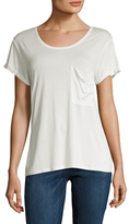 Haute Hippie Solid Rolled Cuff T-Shirt