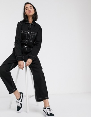 Carhartt WIP relaxed denim boilersuit with contrast stitching