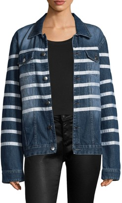 Each X Other Striped Denim Jacket