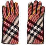 Burberry Nova Check Wool & Leather Gloves