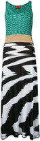 Missoni block panel dress - women - Cotton/Viscose - 40