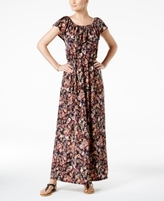 NY Collection Petite Off-The-Shoulder Maxi Dress