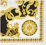 Versace Black and Yellow Baroque Scarf