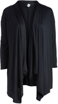 Canari Black Open Cardigan - Plus