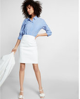 Express High Waisted Pintucked Pencil Skirt