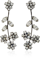 Jennifer Behr Violet Gunmetal-Plated Swarovski Crystal Earrings