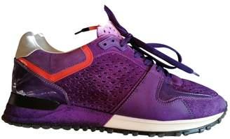 Louis Vuitton Run Away Purple Suede Trainers