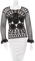 Dolce & Gabbana Long Sleeve Crochet Top w/ Tags