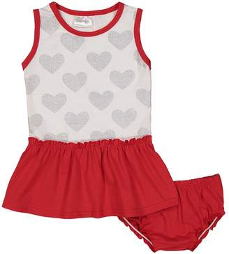 Sweet & Soft Girls' Casual Dresses Red - Red & White Heart A-Line Dress & Bloomers - Infant