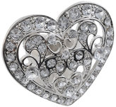 Faux Diamond Heart Ring
