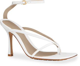 Bottega Veneta Square-Toe Thong Sandals