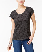 Style&Co. Style & Co Cotton Printed T-Shirt, Only at Macy's