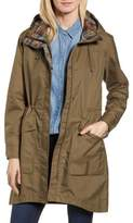 Pendleton Mackenzie Plaid Trim Raincoat