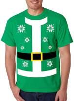 Allntrends Men's T Shirt Santa Claus Suit Ugly Christmas Sweater (M, )