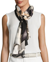 Vince Camuto Orchid Explosion Satin Oblong Scarf, Gray