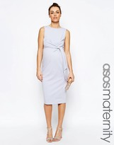 Asos Knot Side Midi Bodycon Dress