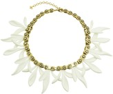 "Nicole Miller Matte Resin Chain Gear Petal 18"" Necklace"