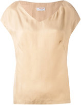 Alberto Biani v-neck blouse - women - Cupro - 38