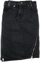 3.1 Phillip Lim Deconstructed denim skirt