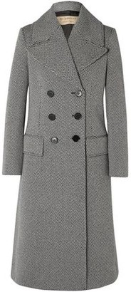 Burberry Double-breasted Herringbone Wool-blend Tweed Coat