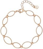Lauren Conrad Rose Gold Tone Simple Open Oval Bracelet